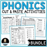 Phonics Cut and Paste Activities BUNDLE NO PREP