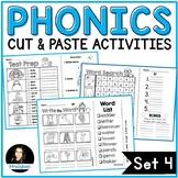 NO PREP Phonics Cut and Paste Activities Set 4 Vowel R Diphthong