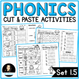 CVC Words Worksheets Phonics Cut and Paste Activities Set 1.5