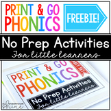 NO PREP Phonics FREEBIE {digital resource for distance learning}