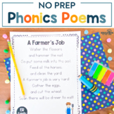 NO PREP Phonics Poems {Comprehension Activities Included}