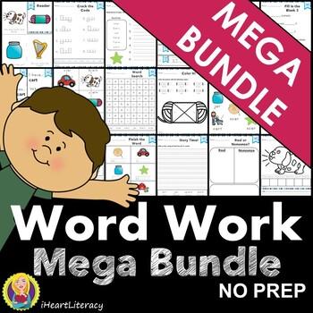 NO PREP Phonics Word Work Mega Bundle 99 Phonics Skills