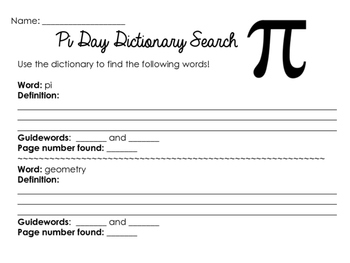 Pi Day Worksheets & Printables