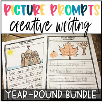 Creative Writing Prompts-Writing Centers YEAR LONG BUNDLE