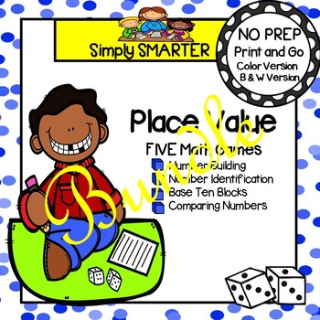 NO PREP Place Value Games Bundle