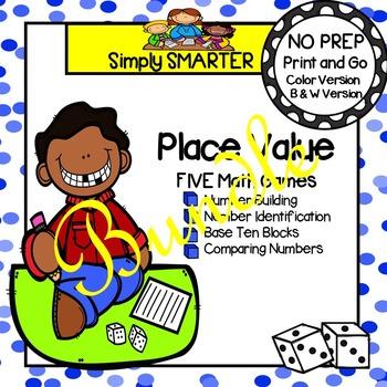 NO PREP Place Value Games Bundle