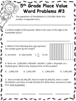 NO PREP Place Value Packet (5th Grade)