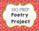 NO PREP Poetry Project- Printable and GOOGLE APPS!