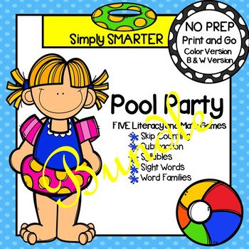 NO PREP Pool Party Games Bundle