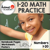 Numbers 1-20 (Interactive Notebook, Worksheets and Decor Pack)
