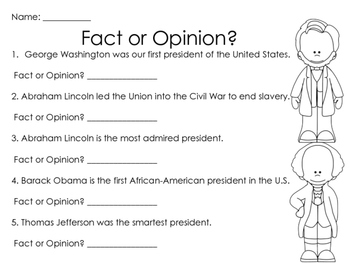 Presidents' Day Worksheets & Printables