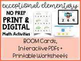 MEGA BUNDLE 360+ Slide Math (Boom Cards, Interactive PDF's