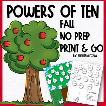 NO PREP // Print and Go {Fall} Math Worksheets :: Exponents & Powers of 10