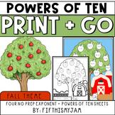 NO PREP // Print and Go {Fall} Math Worksheets :: Exponent