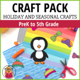 NO PREP Printable Craft Pack - Holiday and Seasonal Crafts