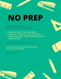 NO PREP Procedural Writing Lesson Plan and Complete Lesson