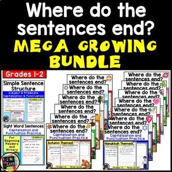 MEGA GROWING BUNDLE: Punctuation and Capitalization: Where