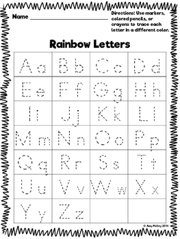 NO PREP Rainbow Writing Bundle! Letters, Words, and Numbers- Oh My!