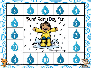 NO PREP Spring Showers Themed Math and Literacy Games Bundle