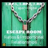 ⭐NO PREP Ratios & Proportional Relationships Escape Room {7th Grade Math}⭐