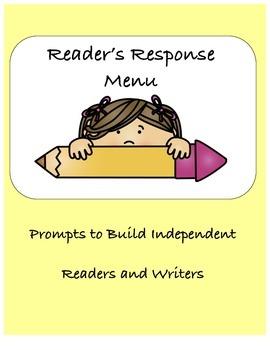 NO PREP Reader's Response Menu