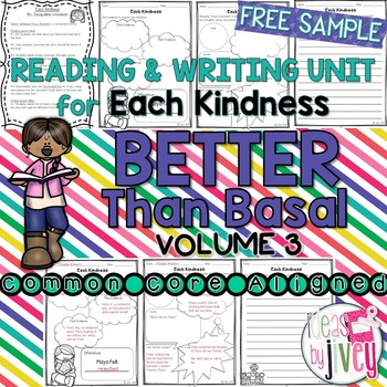 Reading And Writing Activities for Each Kindness Mentor Te
