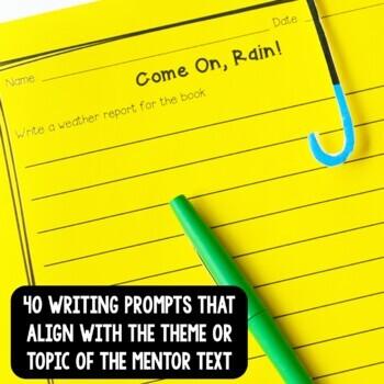 NO PREP Reading & Writing Units for 40 Mentor Texts (Basics Better Than Basal)