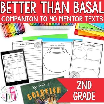 NO PREP Reading & Writing Units for 40 Mentor Texts -Grade 2 (Better Than Basal)