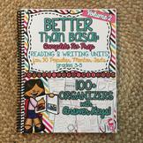 NO PREP Reading and Writing Units: Vol 2 Better Than Basal HARD COPY Book