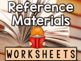 Reference Books Worksheets & Printables