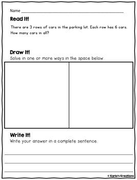 NO PREP SEPTEMBER 3rd Grade Daily Word Problems