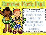 NO PREP SUMMER Math Review Games for Families