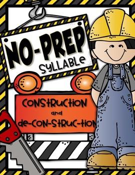 NO-PREP SYLLABLE WORKSHEETS {Orton-Gillingham Compatible}
