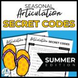 NO PREP Seasonal Articulation Secret Codes for Speech - SU