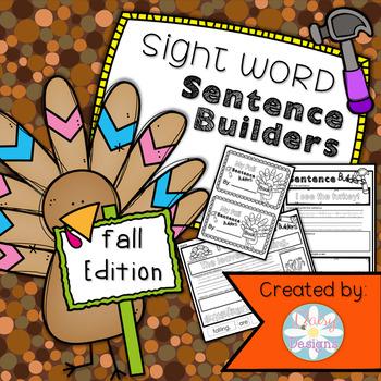 NO PREP Sentence Builders: Fall Edition