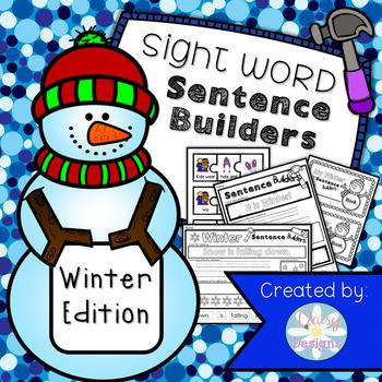 NO PREP Sentence Builders: Winter Edition