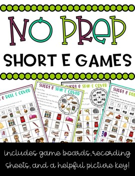 NO PREP Short E Games