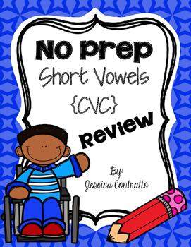 NO PREP Short Vowel Review {CVC}