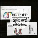 40 NO PREP Sight Word Activity Books - Set #1