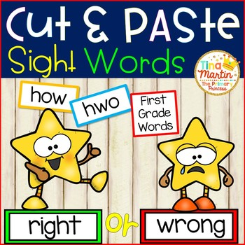 NO PREP Sight Word Cut and Paste it! (First Grade Edition)