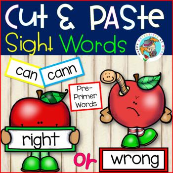 NO PREP Sight Word Cut and Paste it! (Pre-Primer Edition)