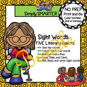 NO PREP Sight Word Games Bundle