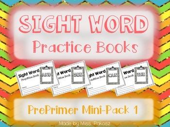 NO PREP Interactive Sight Word Practice Mini-Bundle 1 - PrePrimer Edition