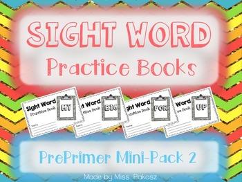 NO PREP Interactive Sight Word Practice Mini-Bundle 2 - PrePrimer Edition