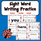 Sight Word Writing Practice Kindergarten, 1st