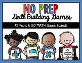 NO PREP Skill Building Math Games for ALL Year