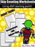 NO PREP Skip Counting Worksheets to 1000 - Forwards and Backwards by 5's