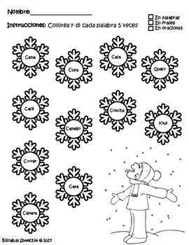 NO PREP Snowflake Articulation / Bilingual