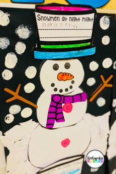 NO PREP Snowmen at Night Snowman Writing and Craft Winter Bulletin Board K 1 2