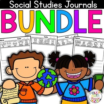 NO PREP Social Studies Writing Journal GROWING BUNDLE